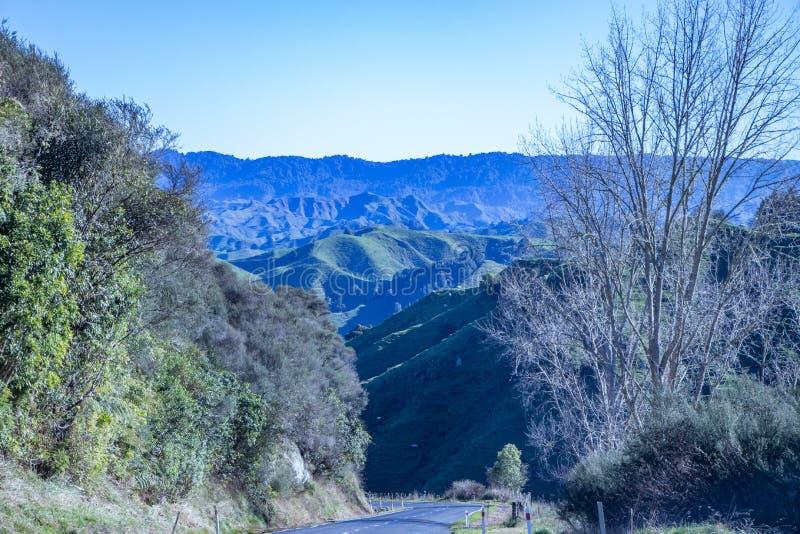 横跨乡下的看法从被忘记的世界高速公路 免版税库存图片