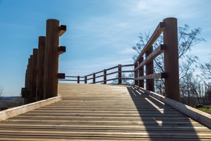 横跨海的宽步行步行 免版税库存图片