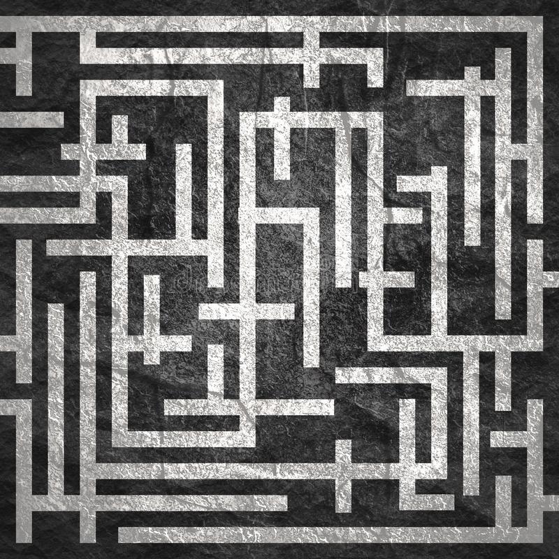 横跨迷宫的红色道路 库存照片