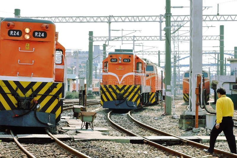 横跨铁路轨道 免版税库存照片