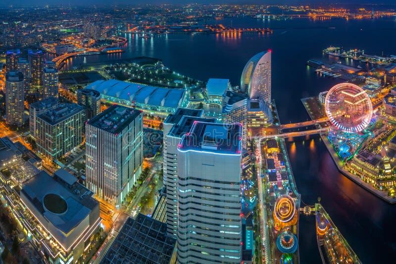 横滨,日本江边都市风景 免版税库存照片
