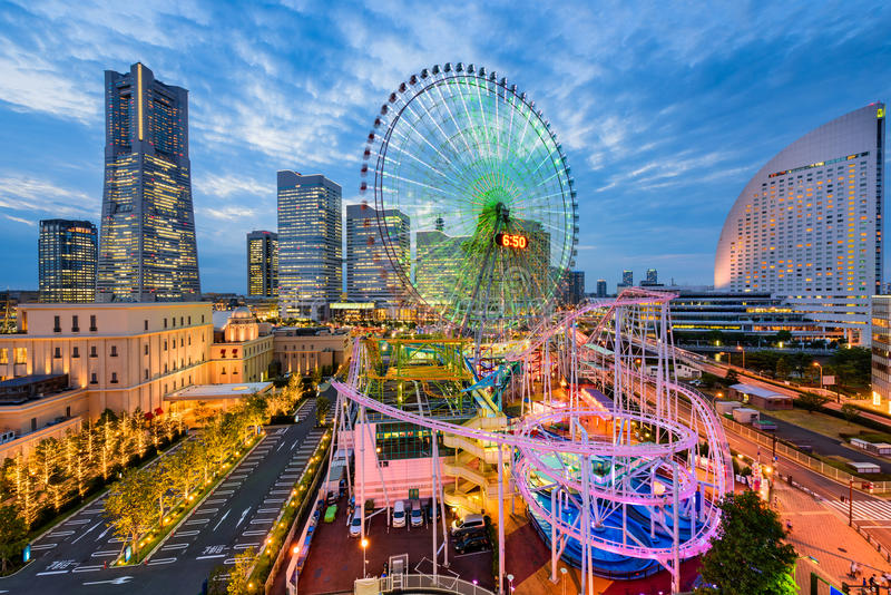 横滨,日本都市风景 库存图片