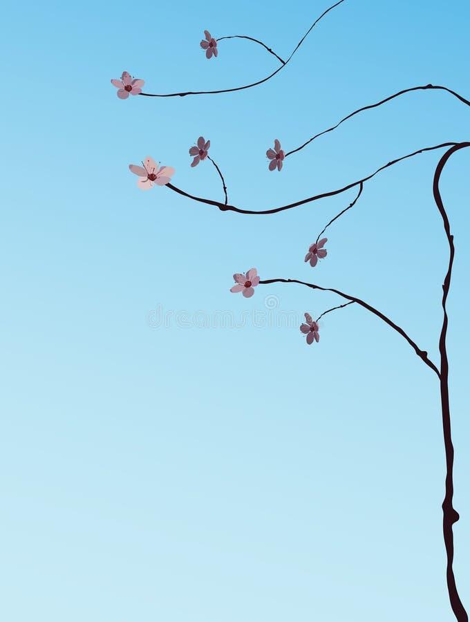 樱桃例证结构树 皇族释放例证