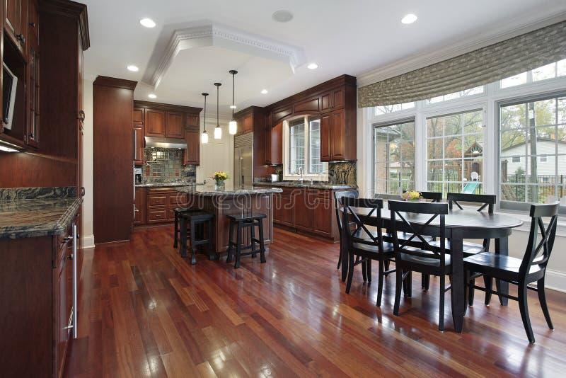 樱桃地板厨房木头 免版税库存图片