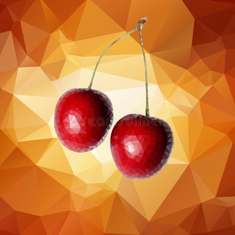 樱桃多角形 库存图片