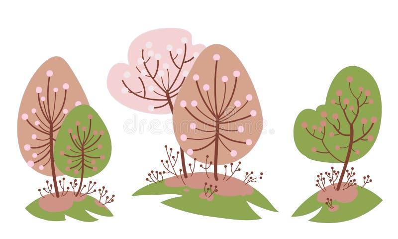 樱桃庭院在春天 库存图片