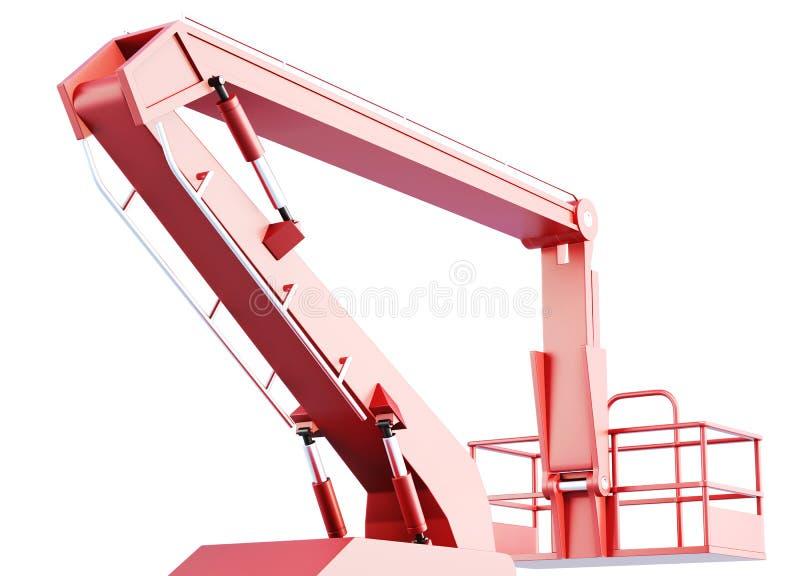 樱桃捡取器工作桶平台和水力建筑 库存例证