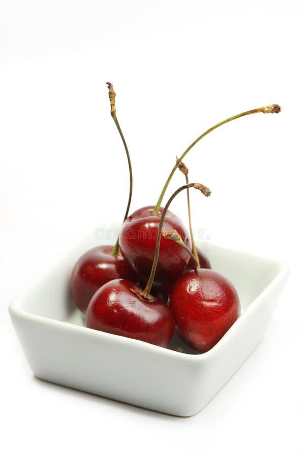 樱桃新鲜的甜点 免版税图库摄影