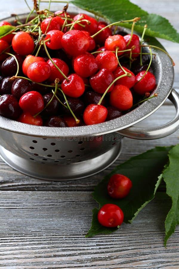 樱桃新鲜的甜点 库存图片