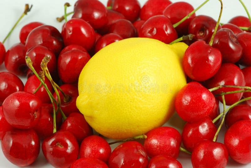 樱桃柠檬 免版税库存照片