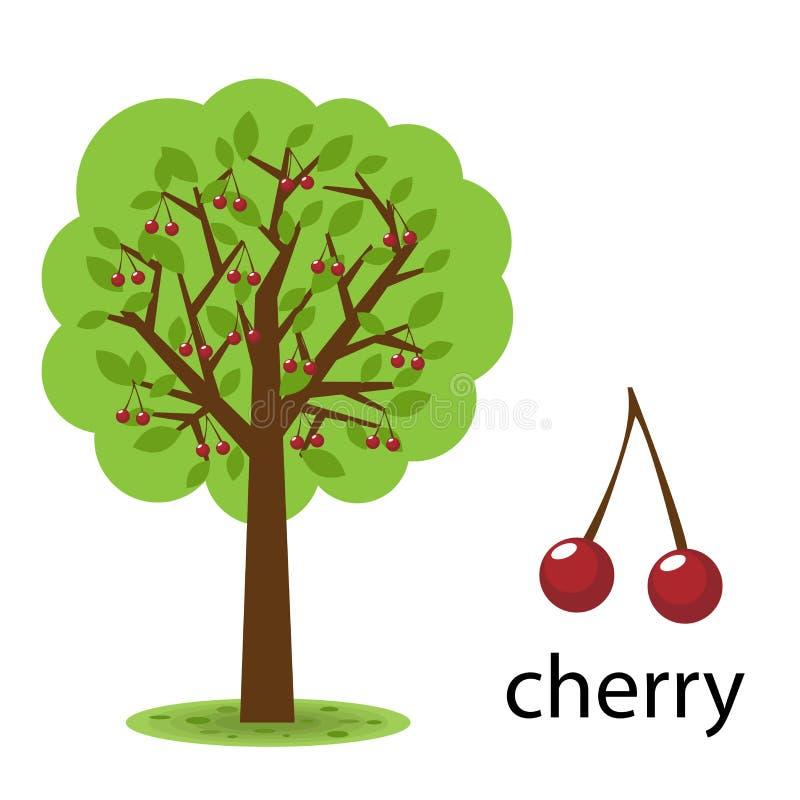 樱桃树 库存例证