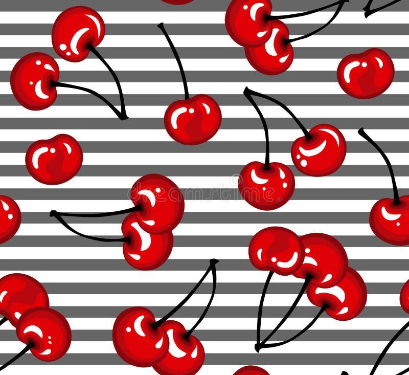 樱桃样式 库存例证