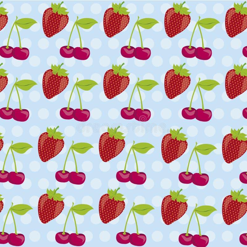 樱桃模式草莓 皇族释放例证