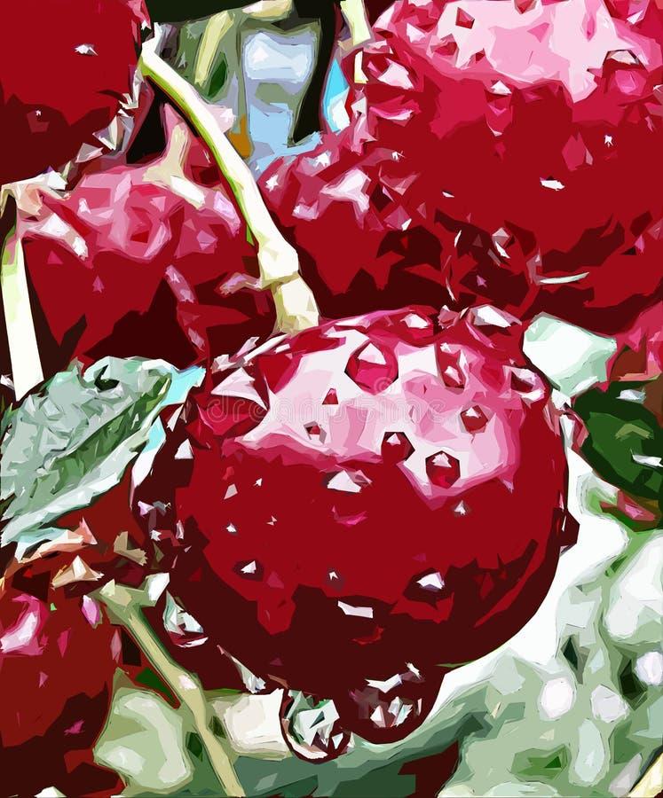 樱桃 向量例证