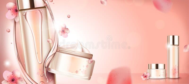 樱花产品广告 向量例证