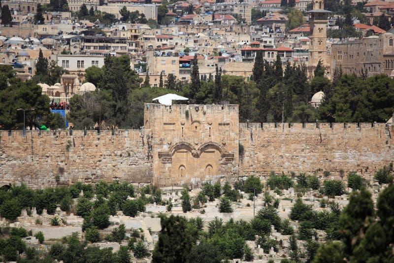 从橄榄山,以色列的金门 库存图片
