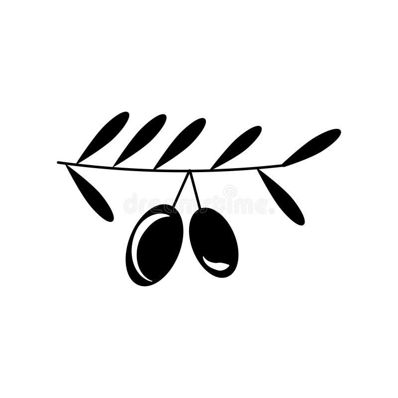 橄榄树枝标志 库存图片