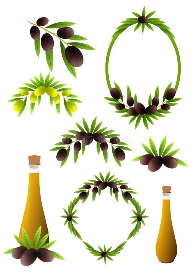 橄榄树枝 向量例证