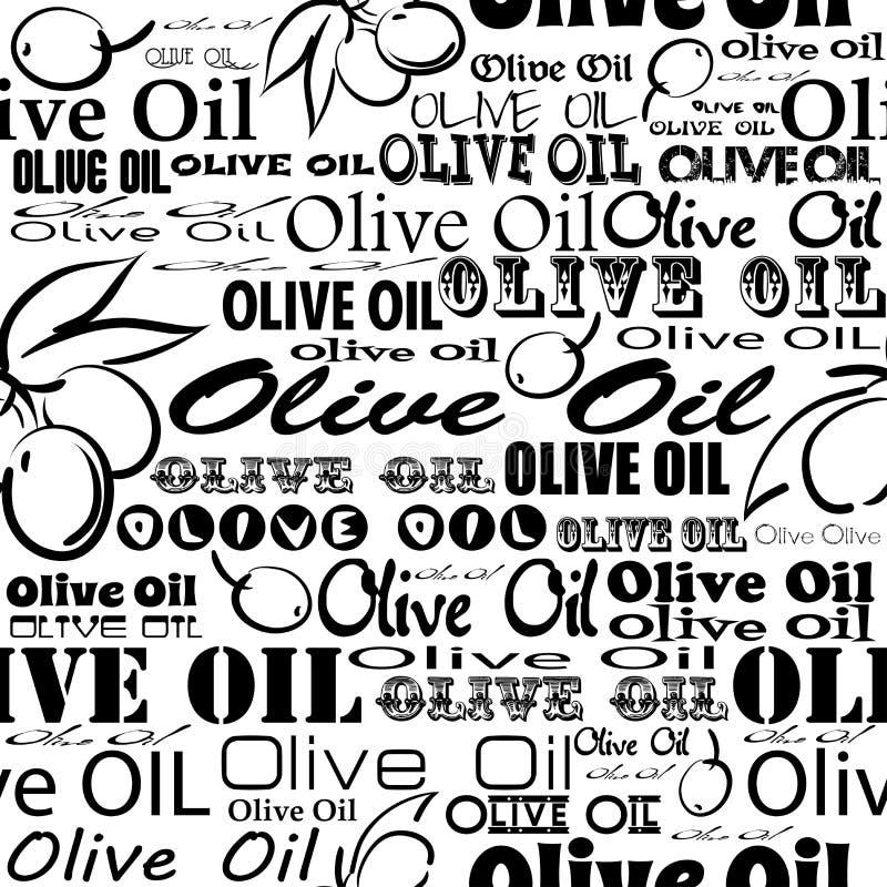 橄榄油无缝的样式 向量例证