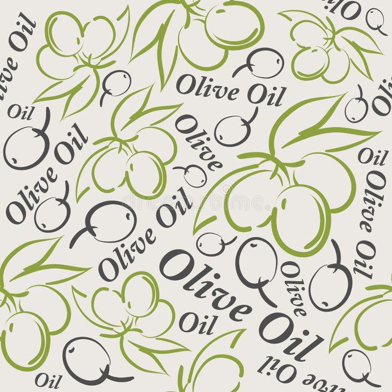 橄榄油无缝的样式 皇族释放例证