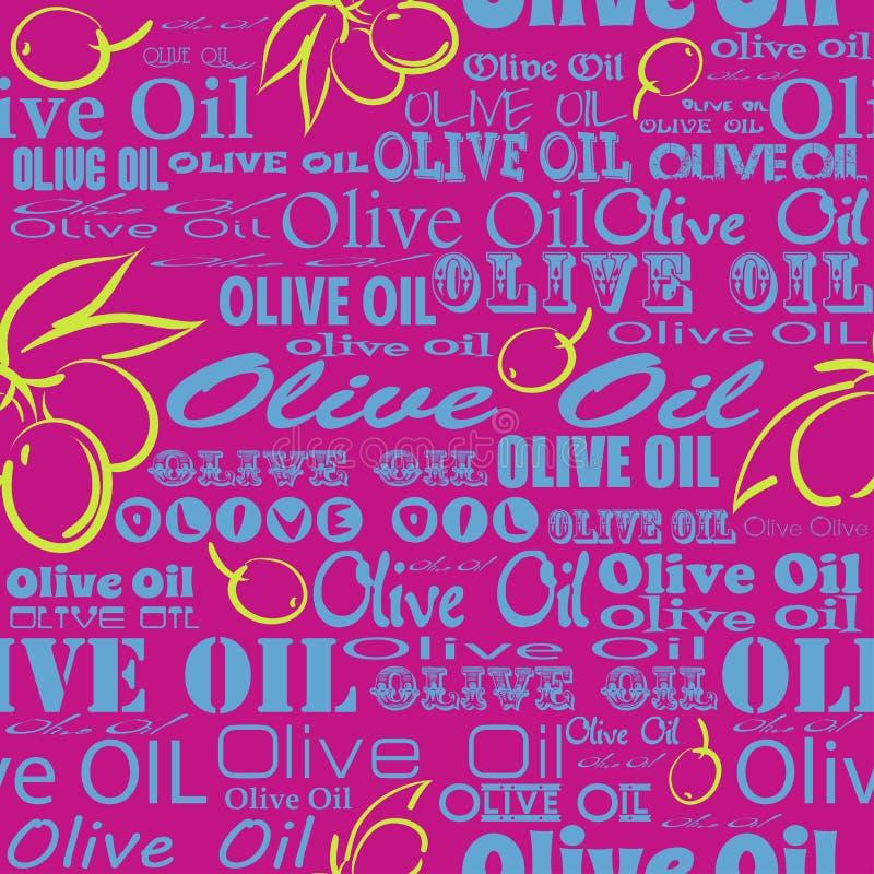 橄榄油无缝的样式 库存例证