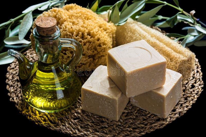 橄榄油肥皂 库存图片
