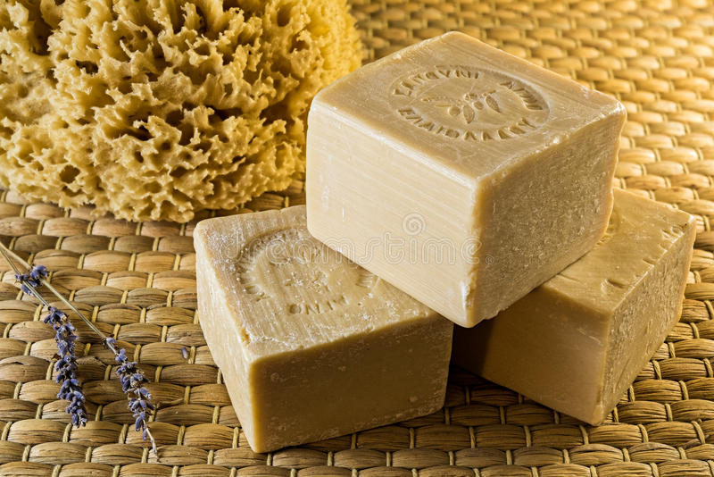 橄榄油肥皂 免版税库存图片