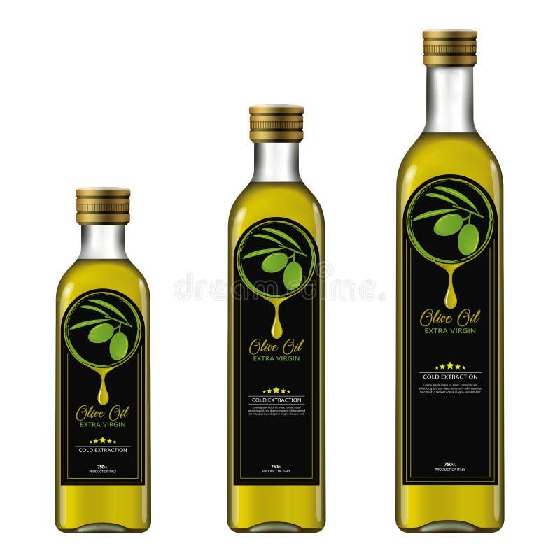 橄榄油额外维尔京 瓶大模型 免版税库存图片