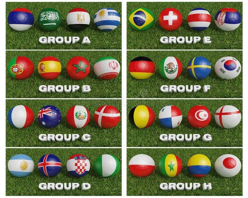 橄榄球世界杯编组32队 世界橄榄球tournamen 库存例证
