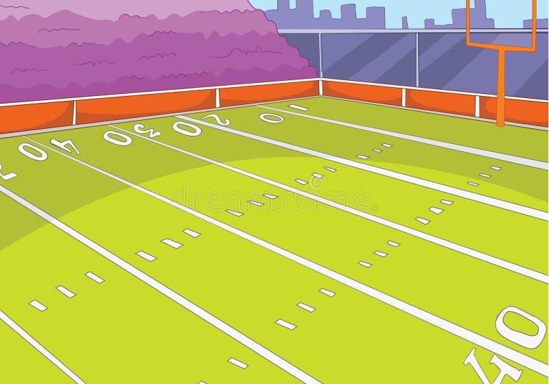 橄榄球体育场动画片背景  库存例证