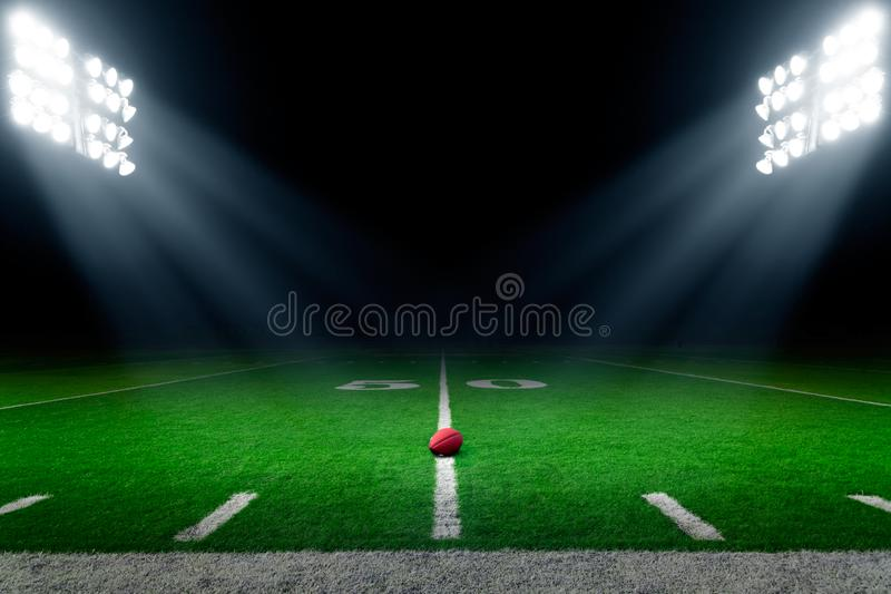 橄榄球体育场背景 图库摄影