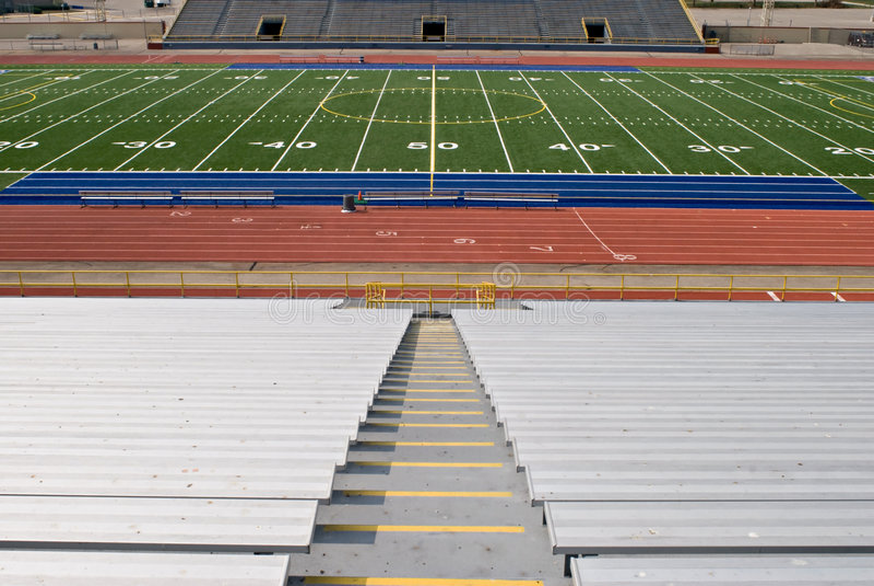 橄榄球体育场 免版税库存照片