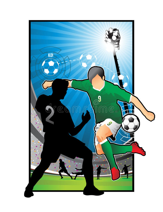 橄榄球例证足球 皇族释放例证