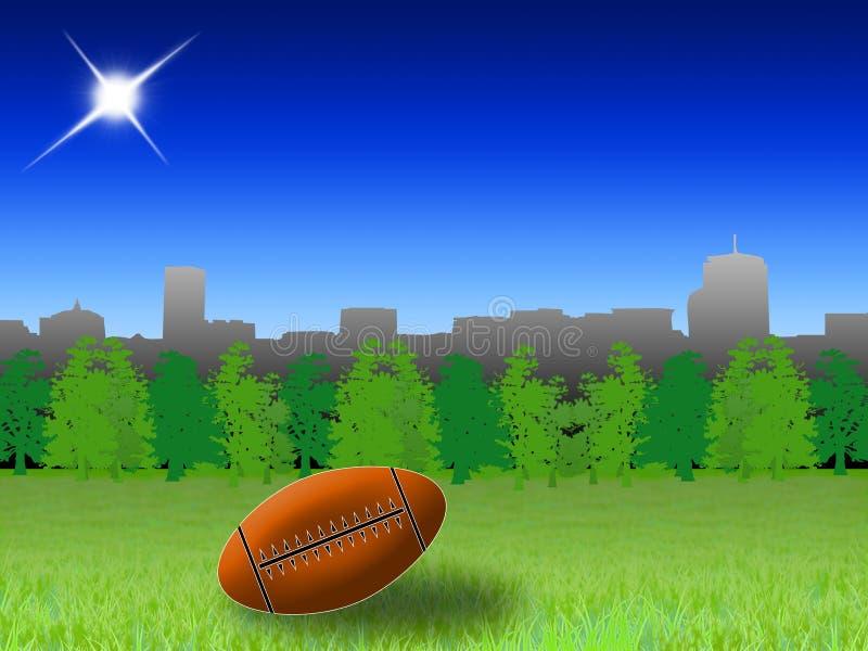橄榄球公园 向量例证