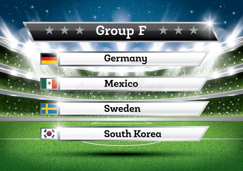 橄榄球冠军小组F 足球世界比赛 凹道Res 库存例证