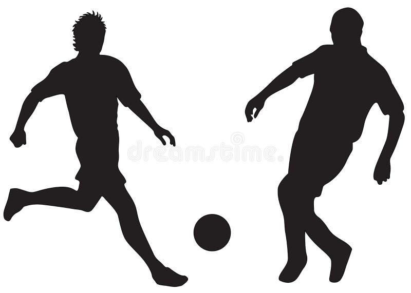 橄榄球剪影 向量例证