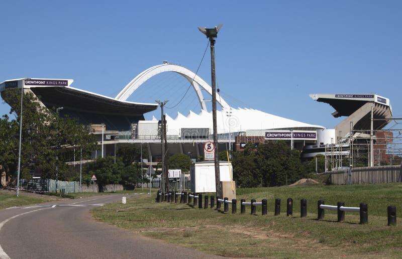 橄榄球和橄榄球场在德班南非 免版税库存照片