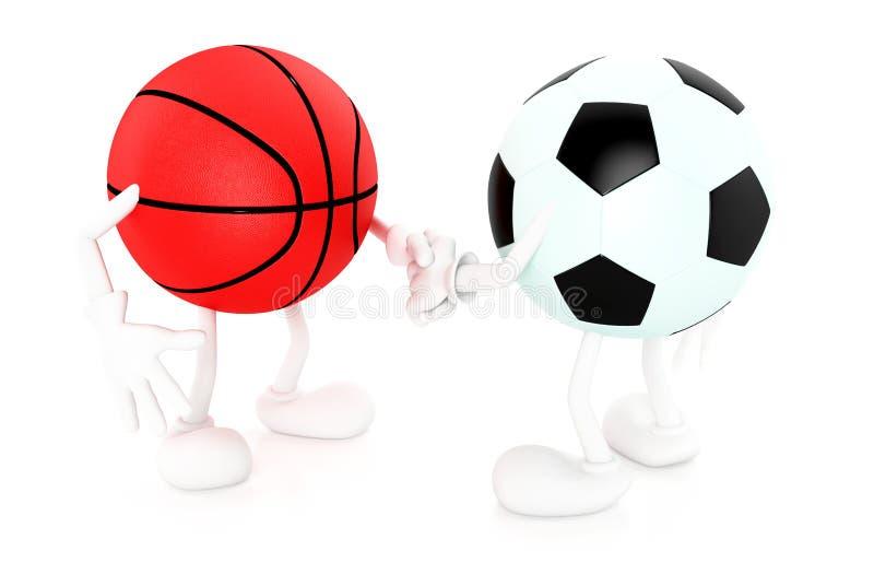 橄榄球和篮球 向量例证