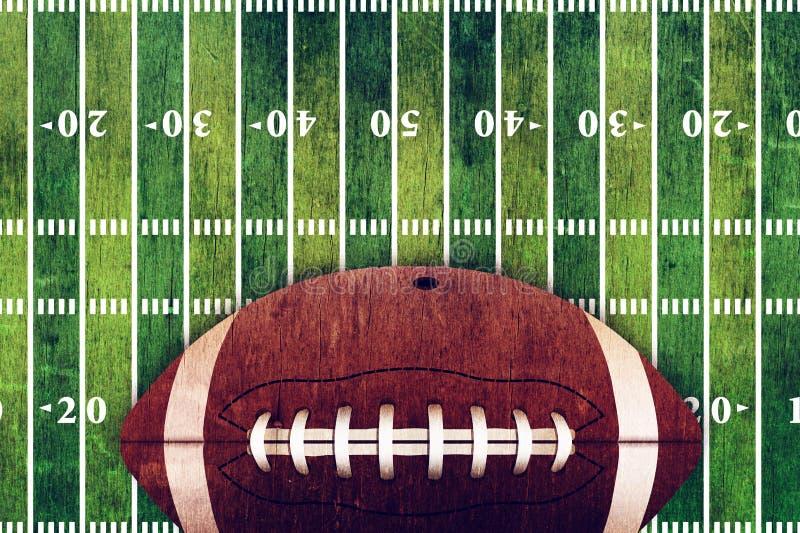 橄榄球和领域难看的东西背景 皇族释放例证