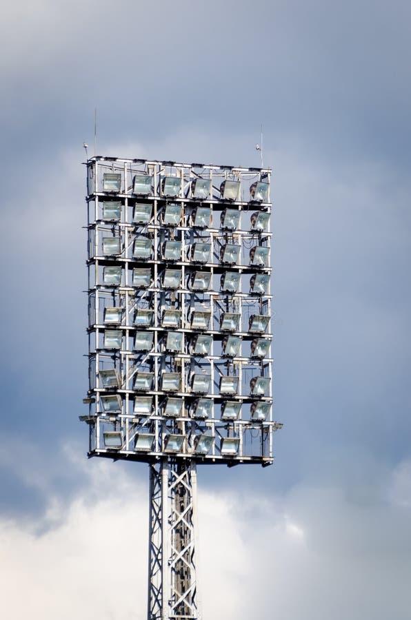 橄榄球场反射器 库存照片