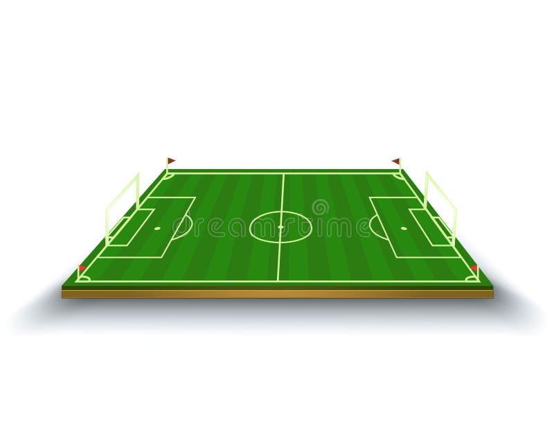 橄榄球场的传染媒介例证 足球 库存例证