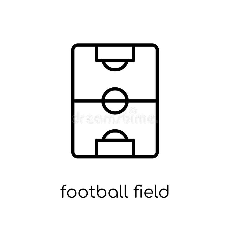 橄榄球场象 时髦现代平的线性传染媒介橄榄球f 向量例证