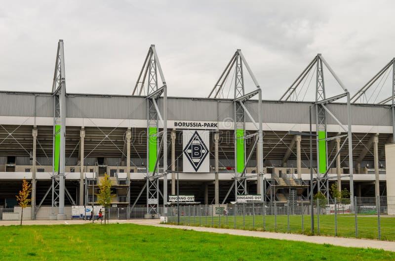 橄榄球场Borussia公园Monchengladbach 免版税图库摄影