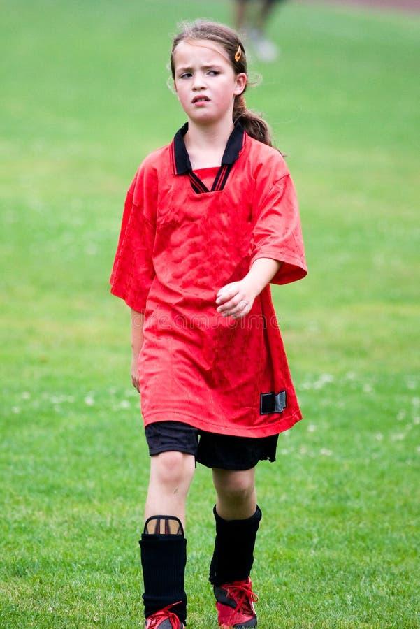 橄榄球女孩使用 图库摄影