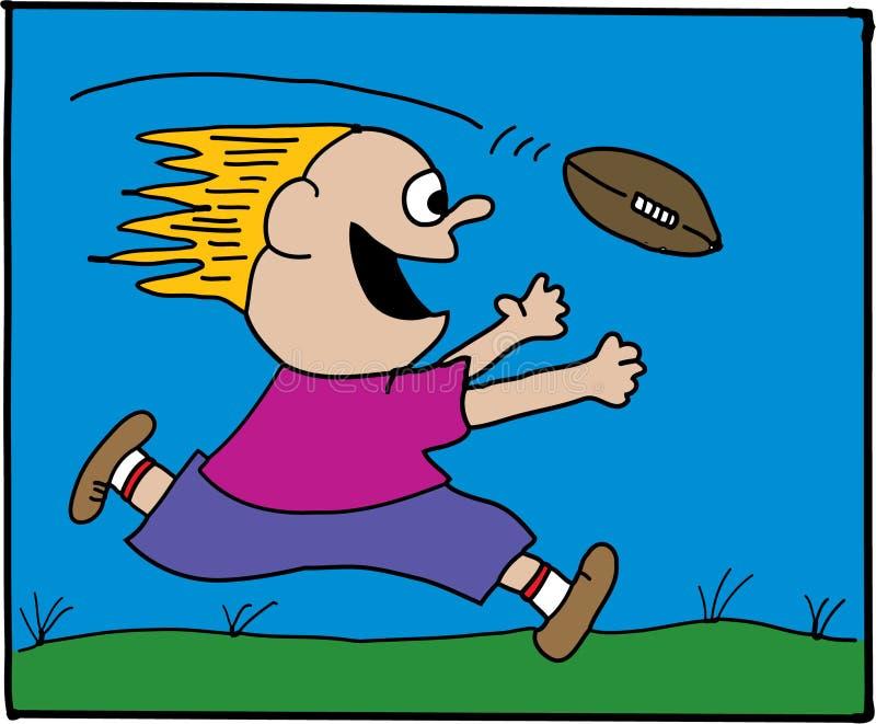 橄榄球孩子 向量例证