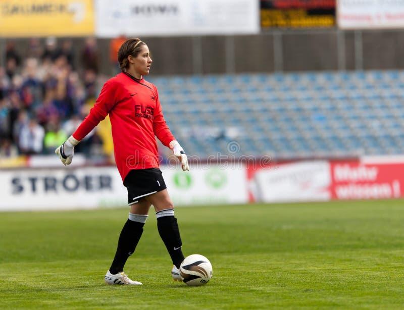 橄榄球守门员莉萨・韦妇女 免版税库存图片