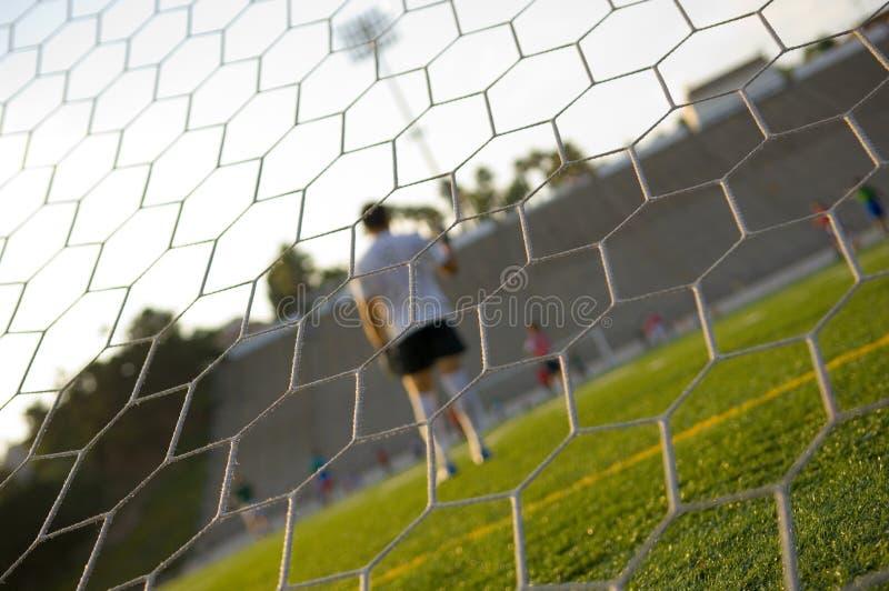 橄榄球实践足球培训 库存照片