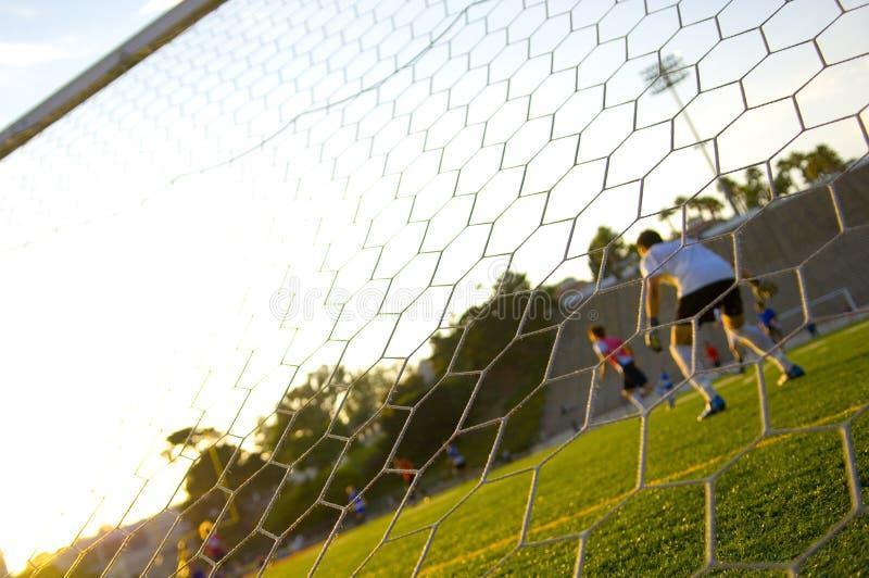 橄榄球实践足球培训 库存图片