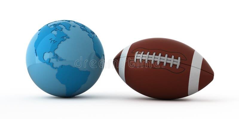 橄榄球宽世界 库存例证