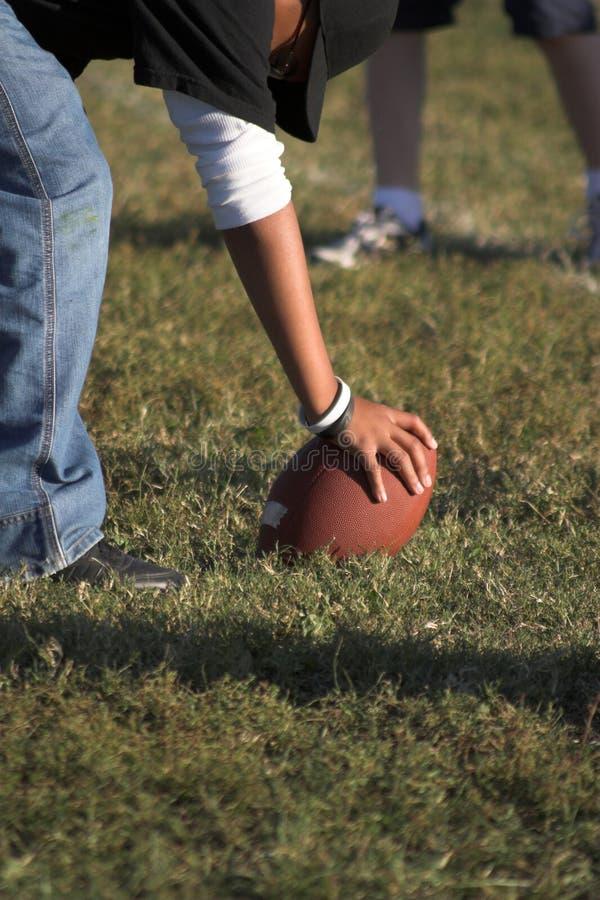 橄榄球小便一点点 免版税库存照片
